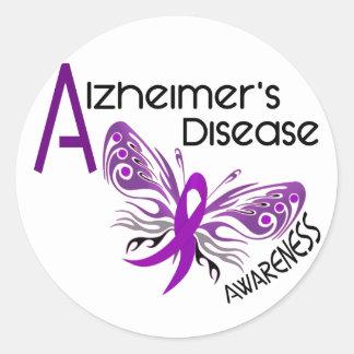 Alzheimer's Disease BUTTERFLY 3 Awareness Classic Round Sticker