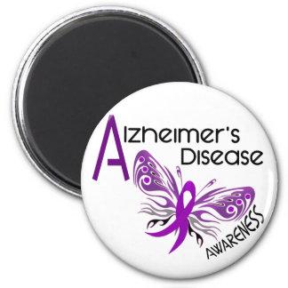 Alzheimer's Disease BUTTERFLY 3 Awareness Magnet
