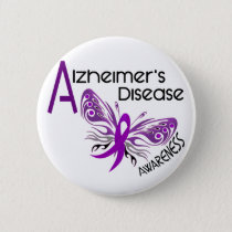 Alzheimer's Disease BUTTERFLY 3 Awareness Pinback Button