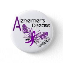 Alzheimer's Disease BUTTERFLY 3 Awareness Pinback Button