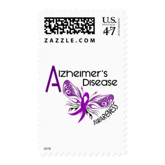 Alzheimer's Disease BUTTERFLY 3 Awareness Postage