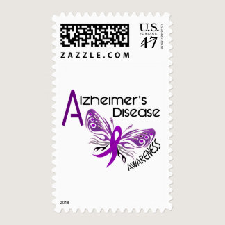 Alzheimer's Disease BUTTERFLY 3 Awareness Postage