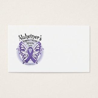 Alzheimer's Disease Butterfly 3 Business Card