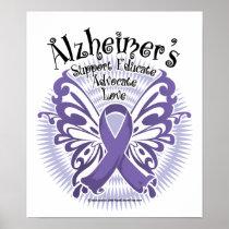 Alzheimer's Disease Butterfly 3 Poster