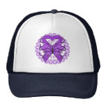 Alzheimers Disease Butterfly Circle of Ribbons Trucker Hats