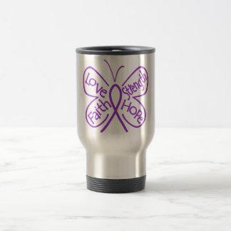 Alzheimers Disease Butterfly Inspiring Words 15 Oz Stainless Steel Travel Mug