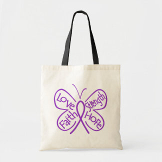 Alzheimers Disease Butterfly Inspiring Words Budget Tote Bag