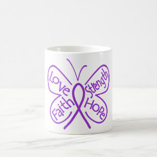 Alzheimers Disease Butterfly Inspiring Words Classic White Coffee Mug