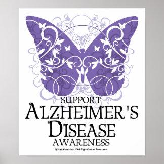 Alzheimer's Disease Butterfly Poster