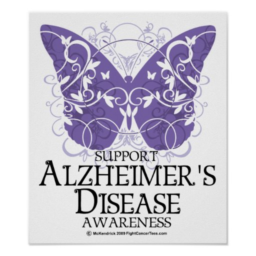 Alzheimer's Disease Butterfly Posters