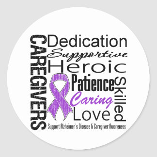Alzheimers Disease Caregivers Collage Stickers