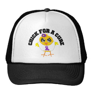 Alzheimers Disease Chick For A Cure Trucker Hats