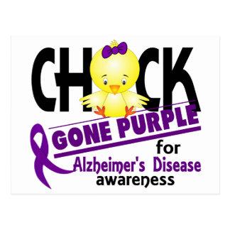 Alzheimers Disease Chick Gone Purple 2 Postcard