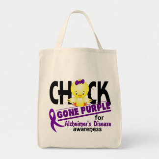 Alzheimers Disease Chick Gone Purple 2 Tote Bag