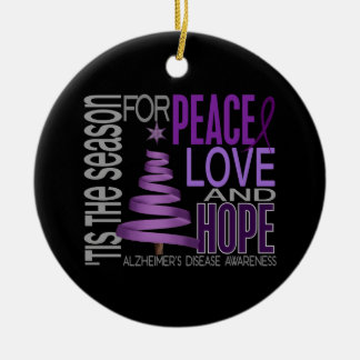 Alzheimers Disease Christmas 1 Ornaments