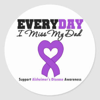 Alzheimer's Disease Every Day I Miss My Dad Classic Round Sticker