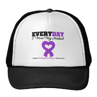Alzheimer's Disease Every Day I Miss My Husband Mesh Hats