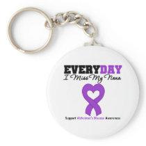 Alzheimer's Disease Every Day I Miss My Nana Keychain