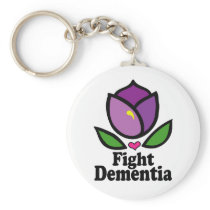 Alzheimer's Disease Fight Dementia Keychain