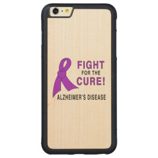 Alzheimer's Disease Fight for the Cure! Carved Maple iPhone 6 Plus Bumper Case