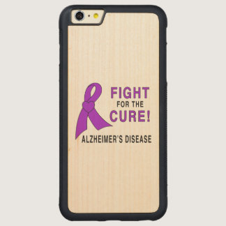 Alzheimer's Disease Fight for the Cure! Carved® Maple iPhone 6 Plus Bumper Case