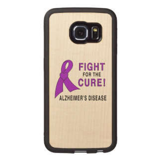 Alzheimer's Disease Fight for the Cure! Wood Phone Case