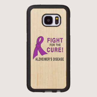 Alzheimer's Disease Fight for the Cure! Wood Samsung Galaxy S7 Case