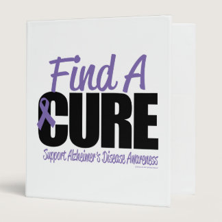 Alzheimer's Disease Find A Cure 3 Ring Binder