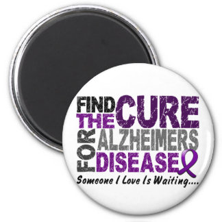 ALZHEIMERS DISEASE Find The Cure 1 2 Inch Round Magnet