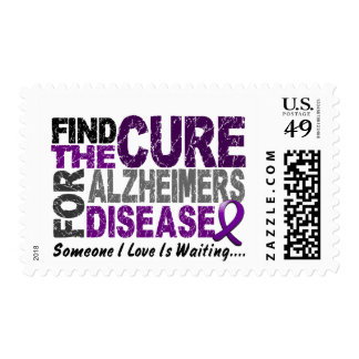 ALZHEIMERS DISEASE Find The Cure 1 Postage Stamps