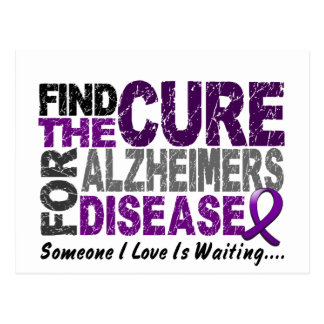 ALZHEIMERS DISEASE Find The Cure 1 Postcard