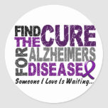 ALZHEIMERS DISEASE Find The Cure 1 Classic Round Sticker