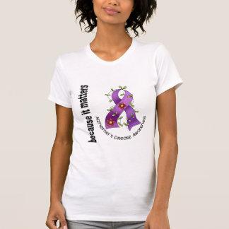 Alzheimers Disease Flower Ribbon 3 T-Shirt