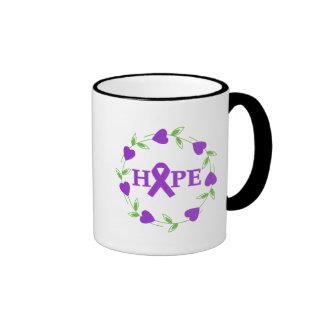 Alzheimer's Disease Hearts of Hope Ringer Coffee Mug