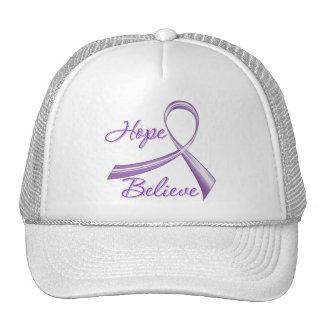 Alzheimers Disease - Hope Believe Trucker Hat