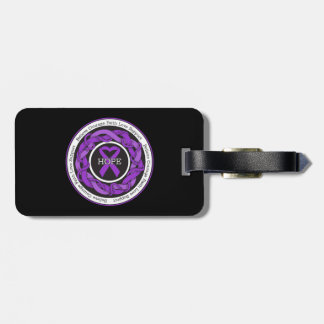 Alzheimers Disease Hope Intertwined Ribbon Tags For Luggage