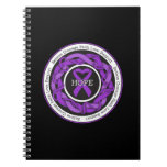 Alzheimers Disease Hope Intertwined Ribbon Notebooks
