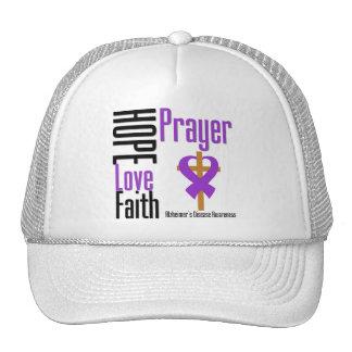 Alzheimers Disease Hope Love Faith Prayer Trucker Hat