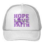 Alzheimers Disease Hope Love Faith Survivor Trucker Hats