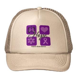 Alzheimers Disease Hope Love Inspire Awareness Trucker Hat