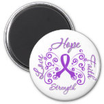 Alzheimer's Disease Hope Motto Butterfly Magnets