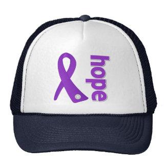 Alzheimer's Disease Hope Ribbon Trucker Hat