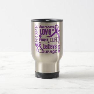 Alzheimer's Disease Hope Words Collage 15 Oz Stainless Steel Travel Mug