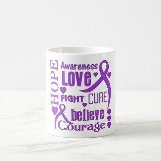 Alzheimer's Disease Hope Words Collage Classic White Coffee Mug
