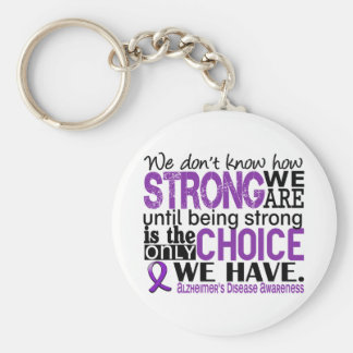 Alzheimer's Disease How Strong We Are Basic Round Button Keychain