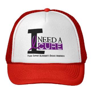 Alzheimer's Disease I NEED A CURE 1 Trucker Hats