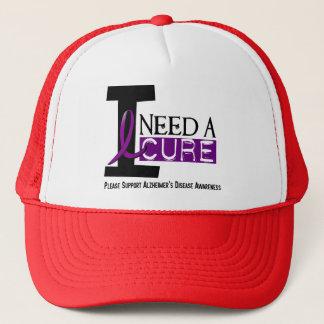Alzheimer's Disease I NEED A CURE 1 Trucker Hat