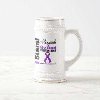 Alzheimers Disease I Stand Alongside My Dad 18 Oz Beer Stein