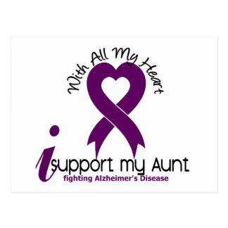 Alzheimers Disease I Support My Aunt Postcard