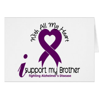Alzheimers Disease I Support My Brother Card
